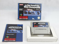 Nigel Mansell's World Championship Super Nintendo SNES Boxed PAL