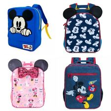 Disney Store Mickey or Minnie Mouse Junior Backpack School Book Bag Tote Retired