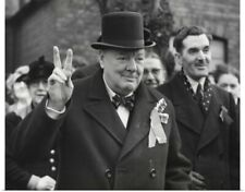 Poster Print Wall Art entitled Conservative Party Leader Winston Churchill gives