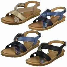 Ladies Leather Collection Flat - Slingback Sandals