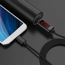 Braided LED Display Charger Cable lightning USB TypeC Data Sync Output Universal