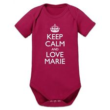 Keep Calm And Love MARIE Baby Strampler