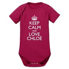 Keep Calm And Love CHLOÉ Baby Strampler