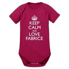 Keep Calm And Love FABRICE Baby Strampler