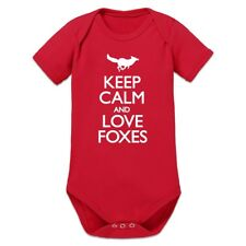 Keep Calm And Love Foxes Baby Strampler