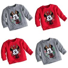 Disney Store Holiday Sweater for Baby Mickey or Minnie Mouse Christmas Reindeer