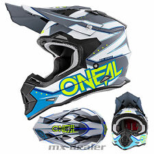 O'Neal 2series Rl Tirachinas Azul Casco Cross Casco Mx Motocross Cross Enduro