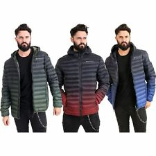 New Mens Crosshatch StayWarm Technology Padded Puffer Winter Faded Hooded Jacket