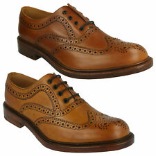 MENS LOAKE BURNISHED LEATHER LACE UP SMART FORMAL BROGUE SHOES ASHBY