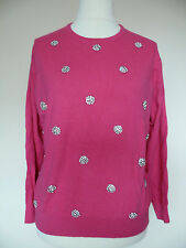 Boden Embellished Circle Jumper With Cashmere-Hot Pink Size 10 RRP £99.00 LAST 1