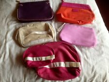 Genuine CLARINS Limited Edition Canvas Toiletries, Cosmetics, Make Up Bags NEW