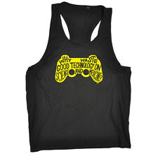 Funny Novelty Mens Vest Singlet Tank Top - Why Waste Good Technology On Science