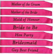 Fashion Hot Hen Party Sashes Girls Night Out Accessory Pink Wedding Sash RTRASK