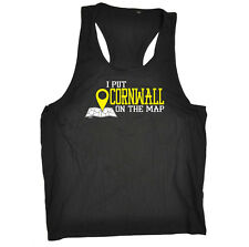 Funny Novelty Mens Vest Singlet Tank Top - Cornwall I Put On The Map
