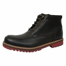 ROCKPORT MARSHALL MENS DARK BROWN LEATHER BOOTS