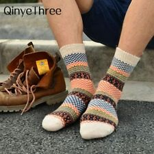 Winter Thick Warm Stripe Wool Socks Casual Calcetines Hombre Sock Business Male