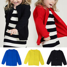 Autumn Baby Kids Girls Knitted Jacket Coat Outerwear Cardigans Knitwear Candy