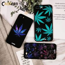 Soft Silicone Phone Case Leaves Patterned For iPhone 6 7 8 X XS 5 5s SE