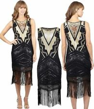 Womens Sleeveless Embellished Sequined Dress Ladies Fancy Dress Party Wear Dress