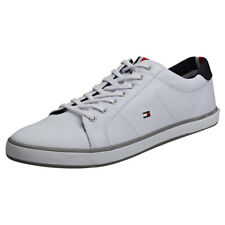 Tommy Hilfiger Harlow 1d Hombres White Algodon Zapatillas