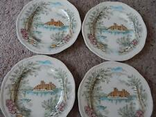 Vintage Set of 4 Queens Castle Alfred Meakin Staffordshire England Side Plates