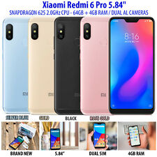 "Xiaomi Redmi 6 Pro 5.84"" Mobile Phone Smart Snapdragon 625 Octa Core 64GB + 4GB"