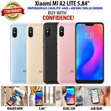 "Xiaomi MI A2 Lite 5.84"" Mobile Phone Smart Snapdragon 625 Octa Core 64GB + 4GB"