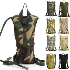 2.5L Water Bladder Bag Hydration Backpack Pack Hiking Camping Cycling Camouflage