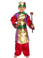 Childs King & Sceptre Christmas Fancy Dress Up Outfit Nativity Pantomime Costume