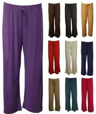 Womens Plus Size Palazzo Trousers Baggy Flared Ladies Wide Leg Paints Palazzo