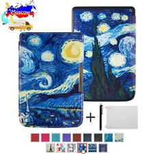 Silk printing book cover case for Pocketbook basic touch lux 2 614/624/626