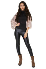 Women's Ladies Girly Champagne Pink Open Front Sequin Cape (8-14)