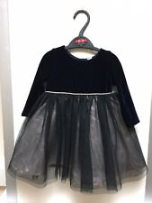 Girls Beautiful Navy Party Dress With Lovely Net Skirt BNWOT