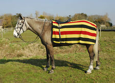 Rhinegold Fleece CutawayRide-On Rug, Exercise Sheet Newmarket Stripe - One Size