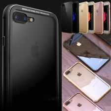 Metal Frame Bumper Tempered Glass Back Cover Case For iPhone 7 7Plus 6/6s Plus