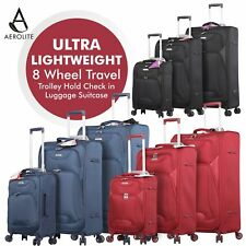 Aerolite Ultra Lightweight 8 Wheel Travel Trolley Luggage Suitcase