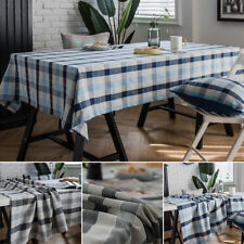 Rectangle Tablecloth Table Cloth Home Picnic Cotton Linen Cover Washable New