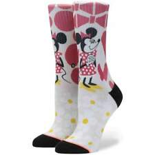 Stance X Disney Womens Yusuke Minnie Socks in Off White | NEW Stance Womens Crew
