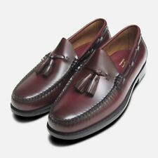 169c2b0925f Burgundy Wine Polished Leather Formal Ivy League Tassel Loafers by Bass  Weejuns