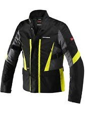 Giacca impermeabile moto Spidi Traveler 2 H2Out Nero Fluorescent Giallo