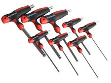 Faithfull T Handle Ball Ended Hex Key Set of 8 Metric (2-10mm)