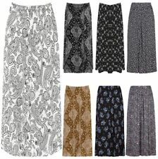 Ladies Elasticated Paisley Floral Print Skirt Womens Plus Size Party Midi Skirt