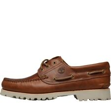 Timberland Mens Chilmark 3 Eye Handsewn Boat Shoes BROWN