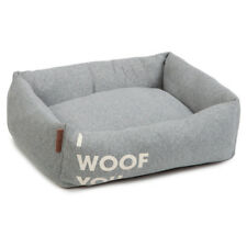 Beeztees Dog Bed I Woof You Grey, Various Sizes, New