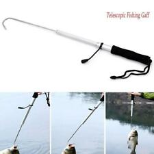 Telescopic Retractable Fish Gaff Stainless Steel Sea Spear Hook Tackle Newly