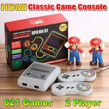 Super Mini SFC HDMI/AV SNES Classic Built-in 621 TV Games Console + 2Controllers