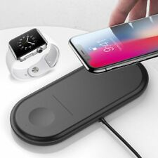 2 in 1 Qi Wireless Charging Dock Fast Charger For Apple iPhone XS XS Max X 8Plus
