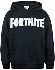 Fortnite Logo Mens Black Hoodie Battle Royale Hooded Sweater - Official Merch