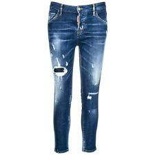 DSQUARED2 JEANS GAMBA DRITTA DAMEN NUOVI NUOVI ORIGINALI COOL GIRL CROPPED B 8B6