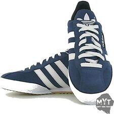 buy popular 9f09c 19bdb New Adidas Samba Super Suede Navy White 019332 Mens Trainer All Sizes Lace  Up